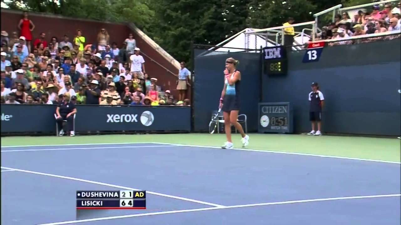 Squirrel Interrupts Sabine Lisicki Match At 2013 Us Open Youtube