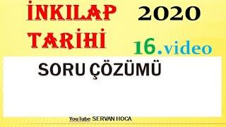 KPSS TARİH SORU ÇÖZÜMÜ 2020 ( AĞUSTOS ) #kpsstarihsoruvideosu2020 #kpsstarih SERVAN HOCA