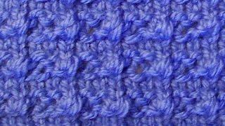 Рельефный плотный узор Вязание спицами Видеоурок 51