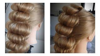 ПрОСТАЯ прическа из резинок на праздник и на каждый день simple hairstyle with rubber bands