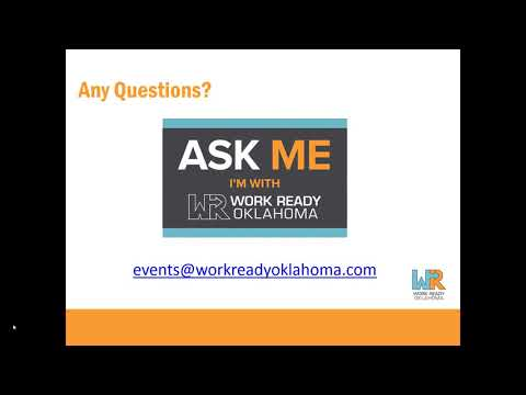 Work Ready Oklahoma On-Demand Information Session for 2018