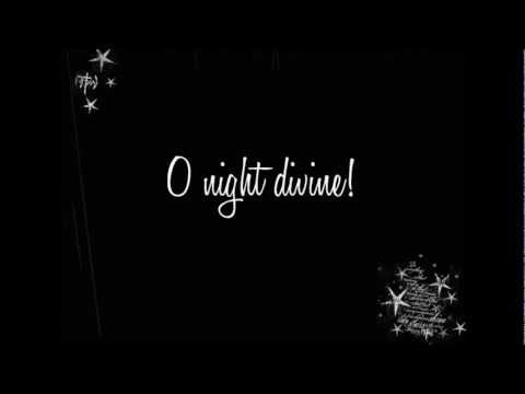 Glee - O Holy Night (Lyrics) HD