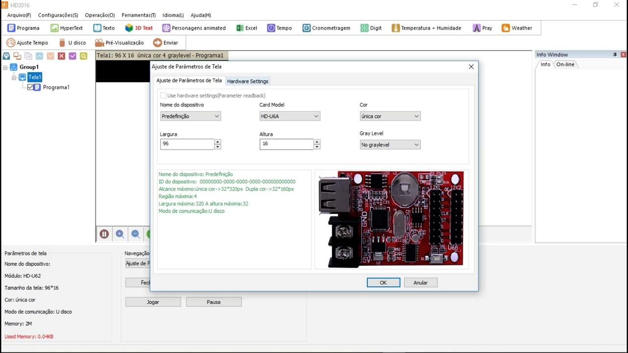 Download Como configurar painel letreiro LED que usa o programa HD 2016