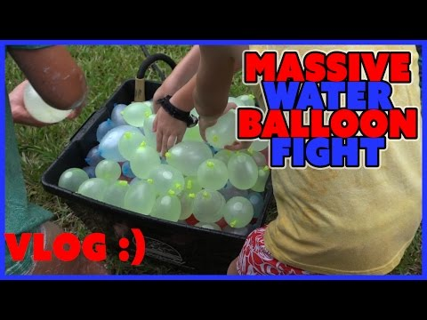 WATER BALLOON FIGHT | BUNCHA BALLOONS | FAMILY VLOG EP 6