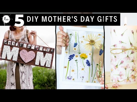 5 Mother's day Gift Ideas, Personalized gift ideas, How to press flowers, Mother's day string art,