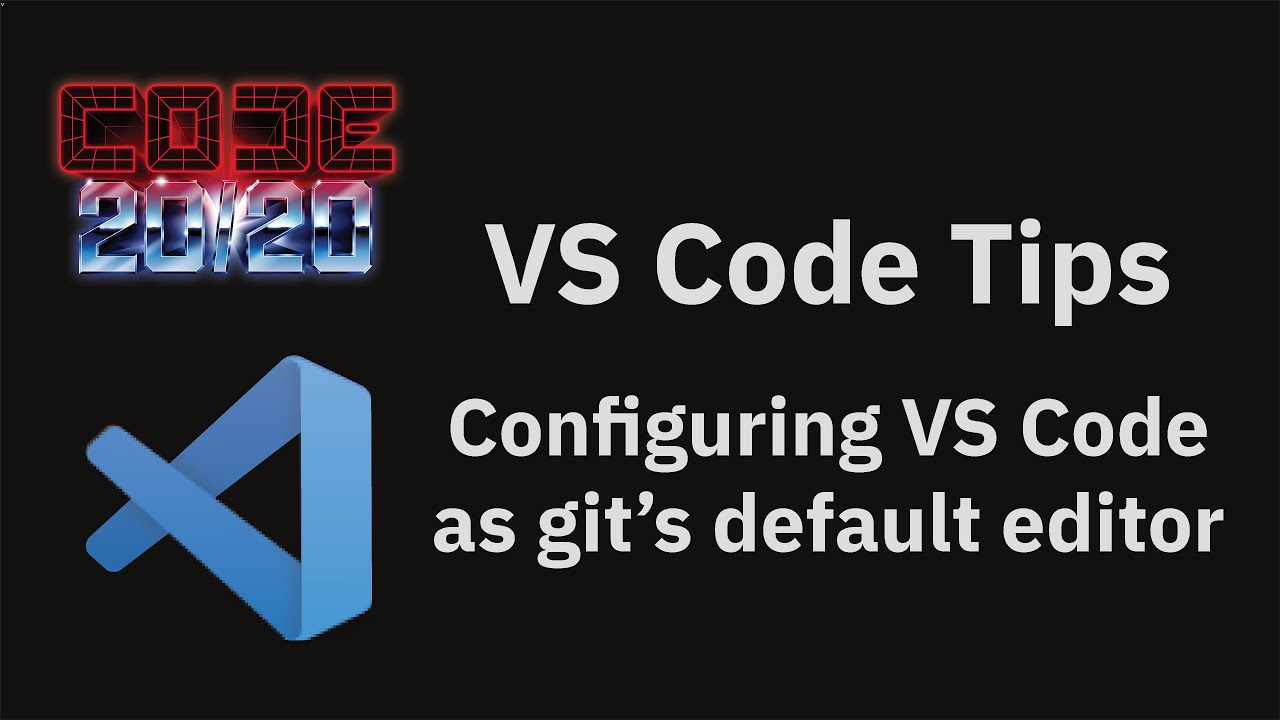 Configuring VS Code as git's default editor