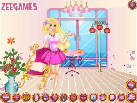 Мультик игра Барби: Переделка спа-салона (Princess Barbie Spa Decor)