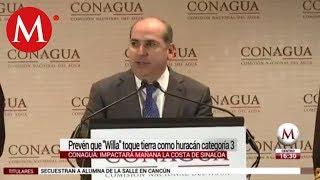 Prevén que huracán 'Willa' toque tierra mañana en Sinaloa