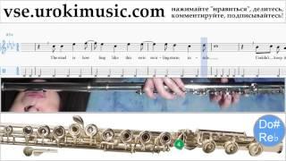 Уроки флейты FROZEN - Let It Go Ноты Самоучитель часть 2 um-821