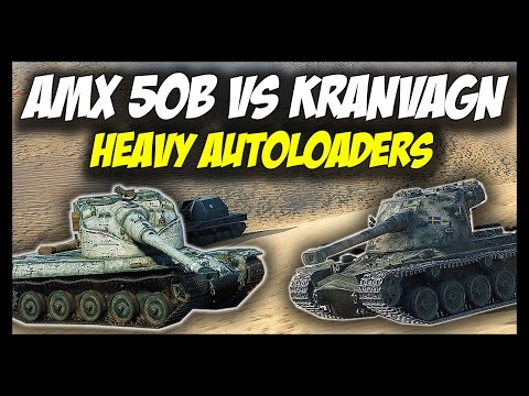 ► World of Tanks: AMX 50B vs KRANVAGN - Tier 10 Heavy Autoloaders - Patch 9.17 Update