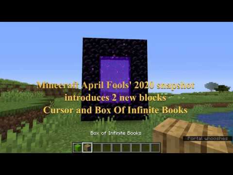 minecraft-april-fools-2020-infinite-snapshot.-langton's-ant,-cursor,-box-of-infinite-books.