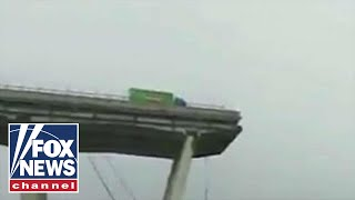 Highway bridge collapses in Genoa, Italy