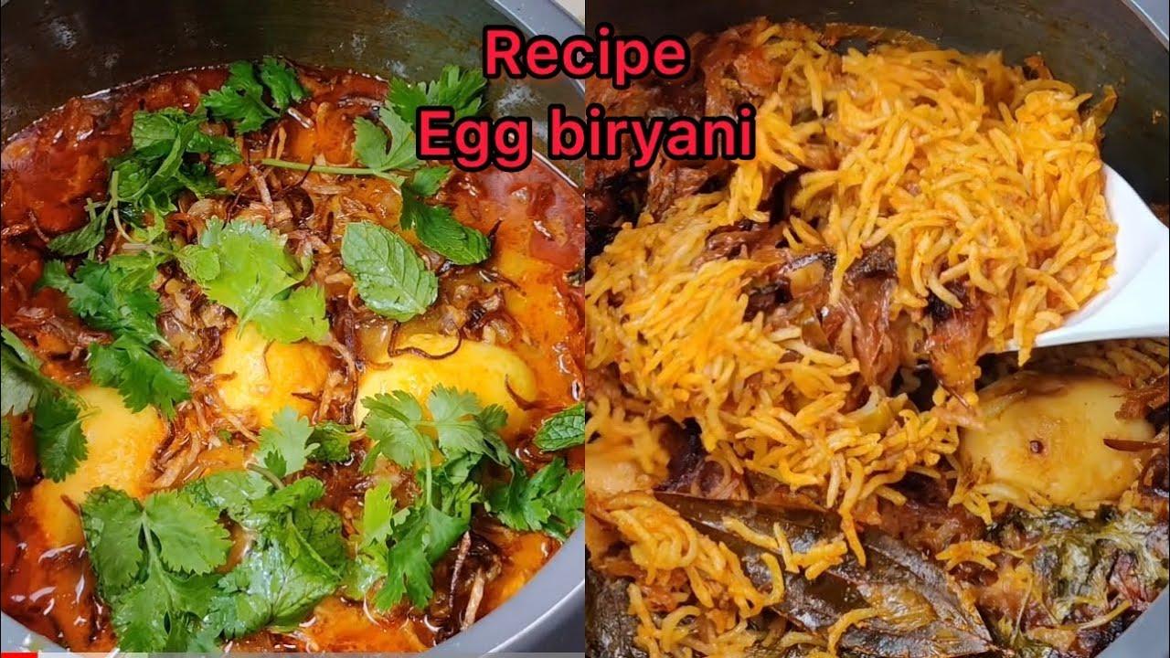 ASMR:EGG BIRYANI *RECIPE* EATING BIRYANI+SPICY CHICKENCURRY+RAITA l FOOD EATING VIDEOS l