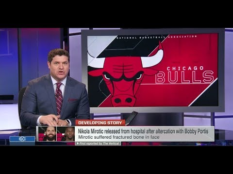 Nikola Mirotic is Out Indefinitely After Fight With Bobby Portis at Practice | Oct 17, 2017