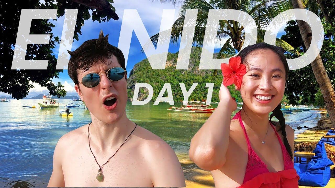 First Day in El Nido, Palawan! Resort & Corong Corong Beach Tour!