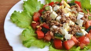 """Салат с тунцом и овощами """"Морской каприз"""". Салат из тунца."""