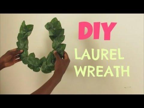 DIY GREEK LAUREL WREATH CROWN|| GREEK GODDESS|| JULIUS CEASAR CROWN