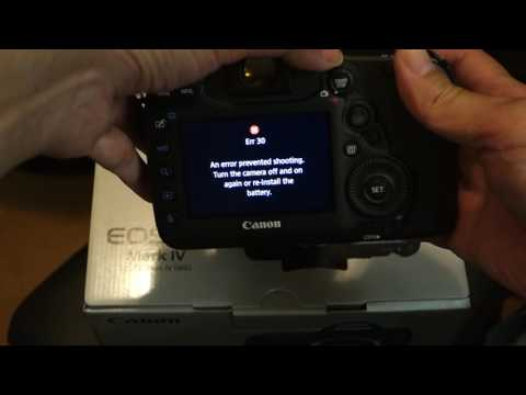 Brand new defective Canon 5D Mark IV error 20 and 30 on pressing the shutter or using movie mode