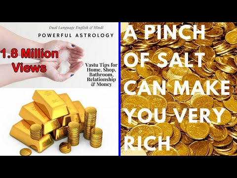 Pinch of salt can make you rich Remove vastu dosh and negativity with astrological remedies of salt
