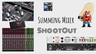 Summing Mixer Shootout ~ Dangerous Music D-Box-SSL SiX-PT10 IntheBox