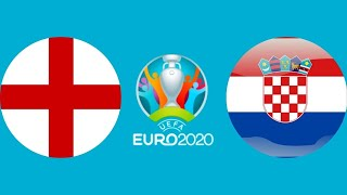 Футбол Евро 2020 Англия Хорватия тайм 1 Чемпионат Европы по футболу 2020