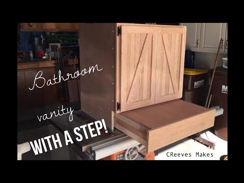 Bathroom Vanity Step Drawer Cabinet ep019