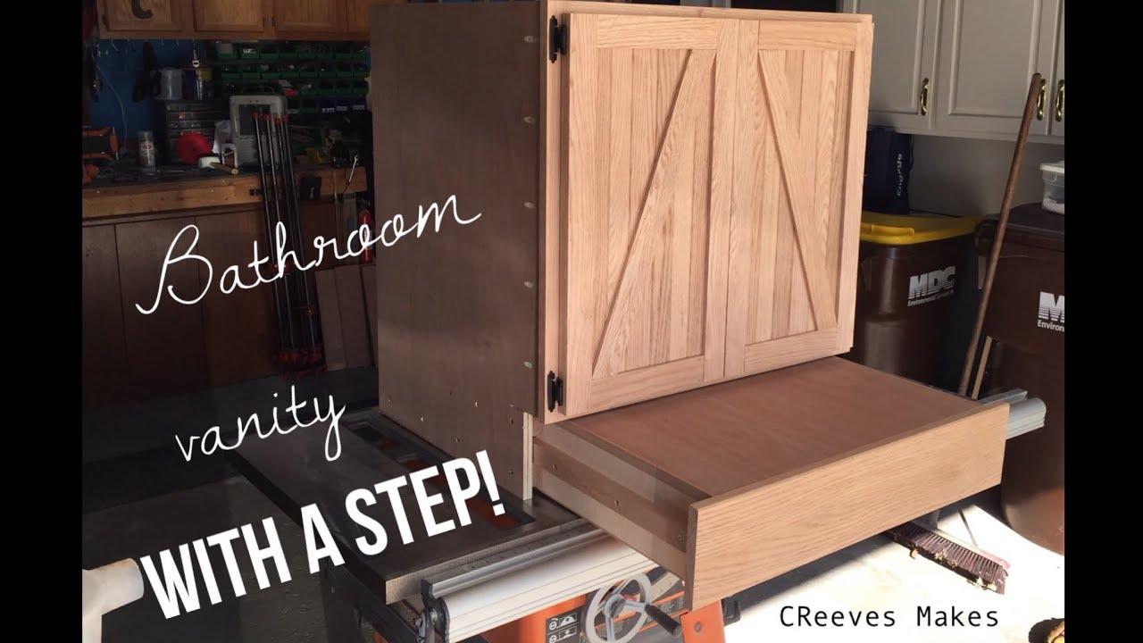 Bathroom Vanity Step Drawer Cabinet Ep019 Youtube