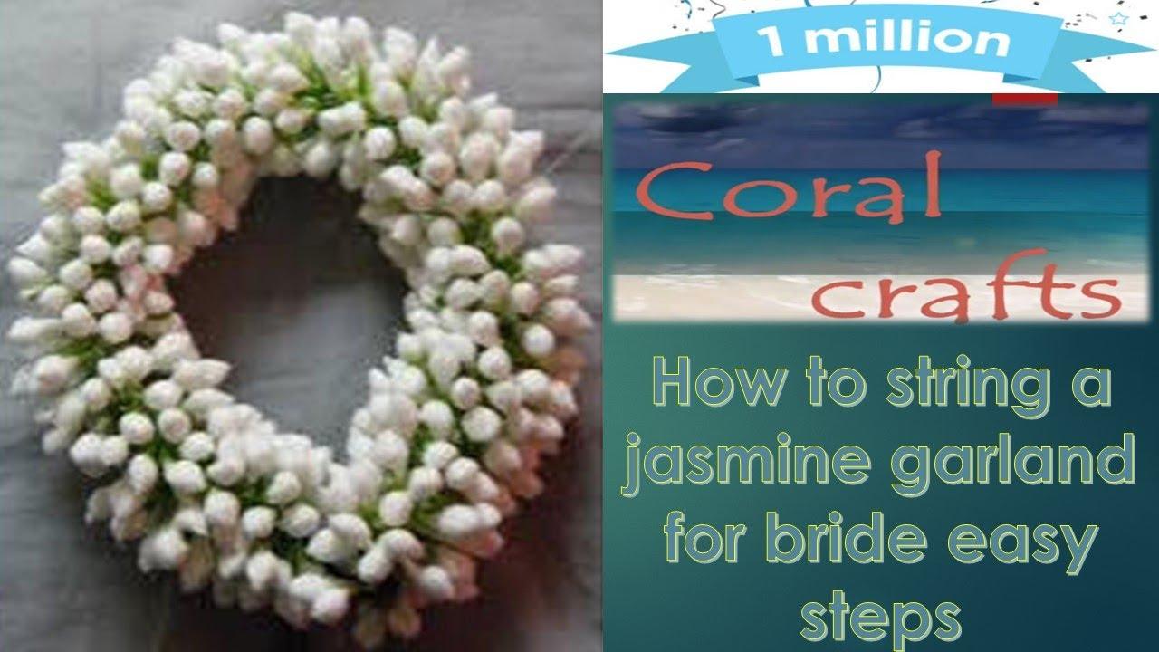 How To Make Jasmine Flower Garland Easy Method For Bridel Basic
