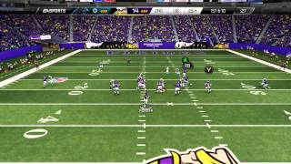 Madden 25 :: XBOX ONE Gameplay :: Back Juke Murder - Vikings Vs. Panthers - Online Gameplay XboxOne