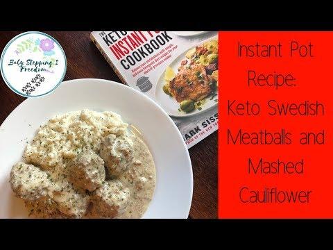 Instant Pot Recipe: Keto Swedish Meatballs and Mashed Cauliflower! Budget Friendly!