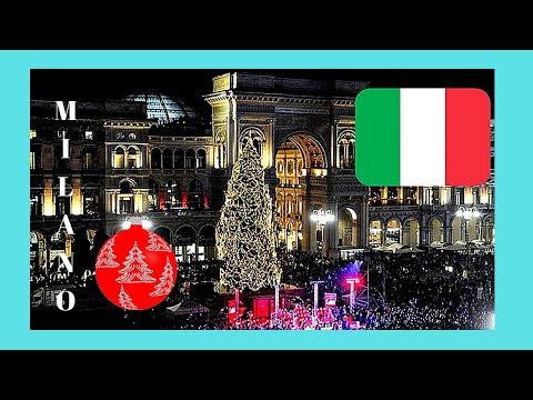 CHRISTMAS  shopping in beautiful MILAN (MILANO), ITALY