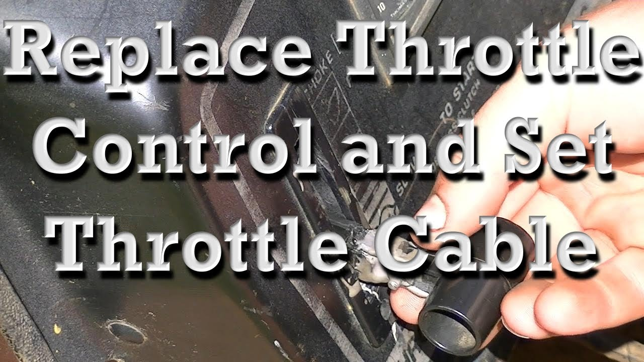 small resolution of replacing throttle controls and setting throttle cable on older mtd mower similar on any youtube