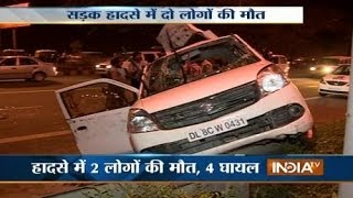 Two die, 5 injured in two different road accidents in Delhi