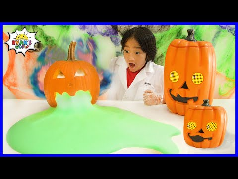 Easy DIY Science Experiment for Kids Halloween Edition with oozing Pumpkins