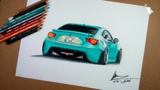 Toyota GT86 Çizimi | Realistic Car Drawing