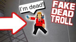 FAKE DEAD TROLL AS MURDERER!! *IT WORKED* (Roblox Murder Mystery X)