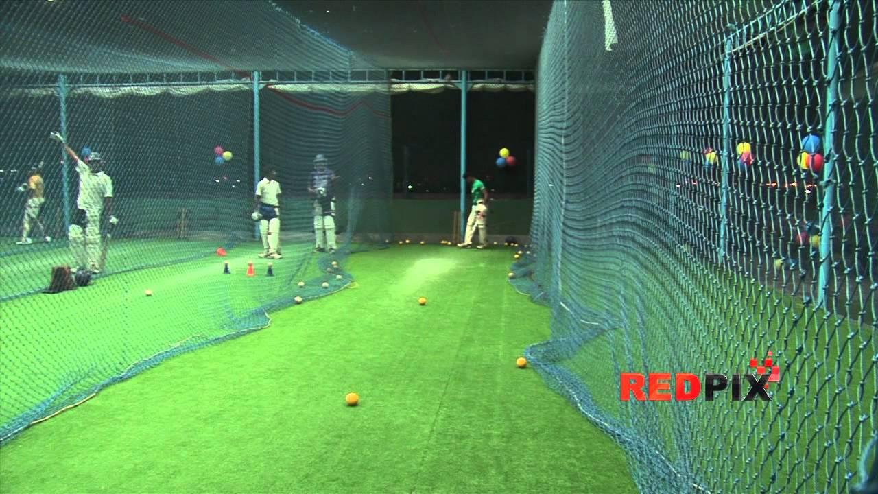 Chennai S First Indoor Cricket Pitch Red Pix Youtube