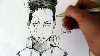 Como Desenhar o Shikamaru Nara [Naruto Shippuden] - (How to draw Shikamaru) - SLAY DESENHOS #215