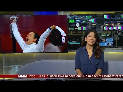 Reshmin Chowdhury BBC News Channel HD Newsroom Live Sport November 13th 2018