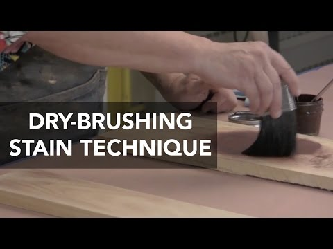 Create Faux Grain and Effects with Dry-Brush Stain Technique