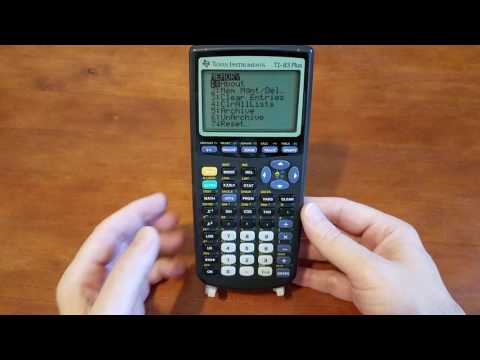 How to clear Texas Instruments TI-83 Plus calculator.