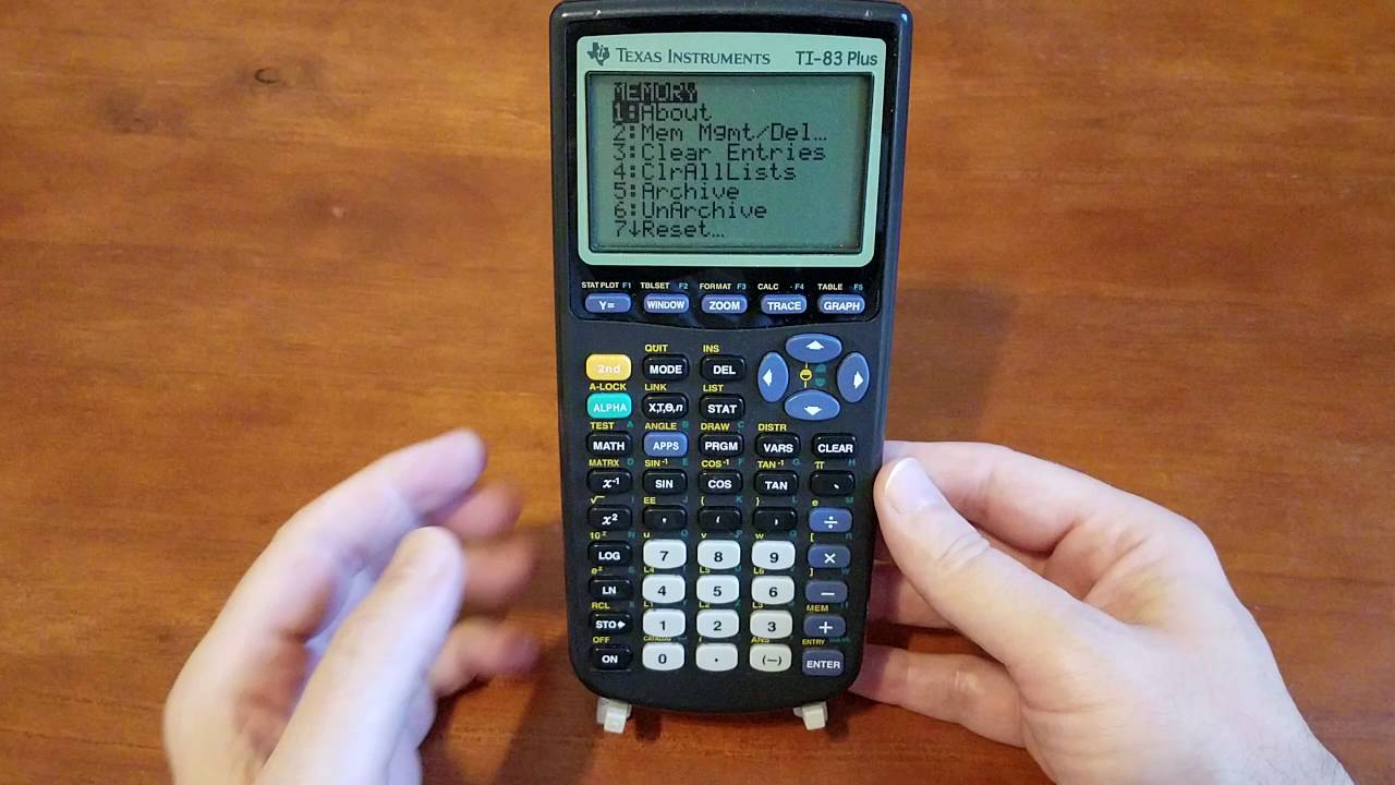 How To Clear Texas Instruments TI 83 Plus Calculator