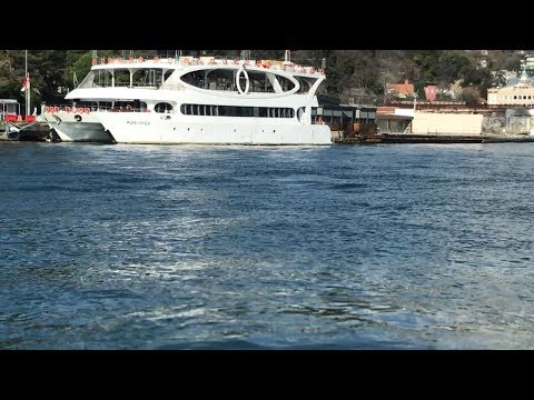 Relaxing Bay View of Bosphorus Istanbul from Day Time Cruise Ship 30 Minutes