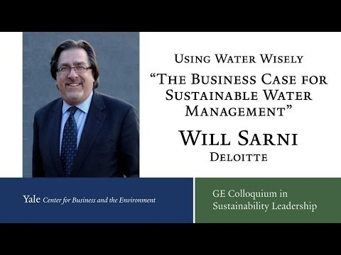 USING WATER WISELY  |  The business case for sustainable water management  |  Yale