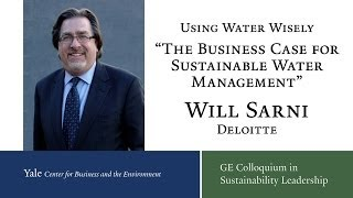 Using Water Wisely: Presentation by William Sarni, Deloitte