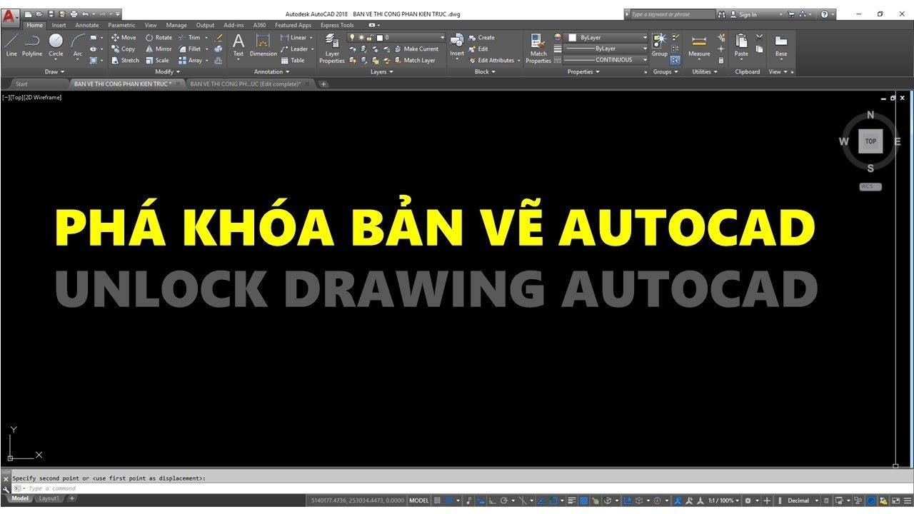 Lisp cad Minsertblock // Phá khóa bản vẽ AutoCAD – Unlock Drawing autocad // Thuận Nguyễn Quang TNQ