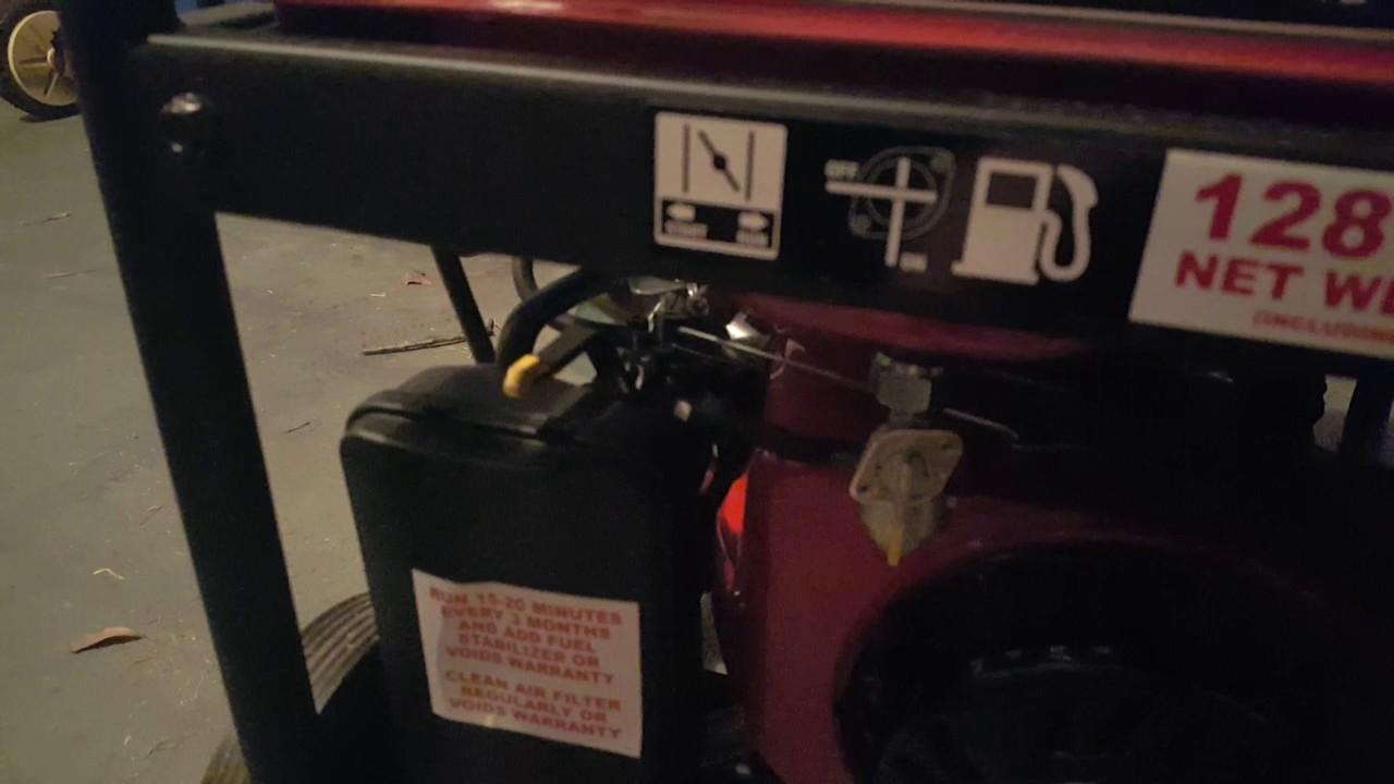 Generator Only Runs at Half Choke - TexasCHLforum com
