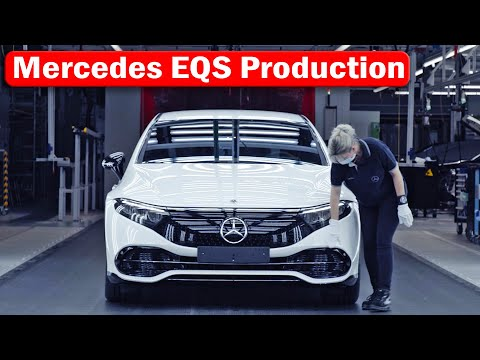 Mercedes EQS Production, Germany Sindelfingen - Factory56 // Electric Car Assembly Line