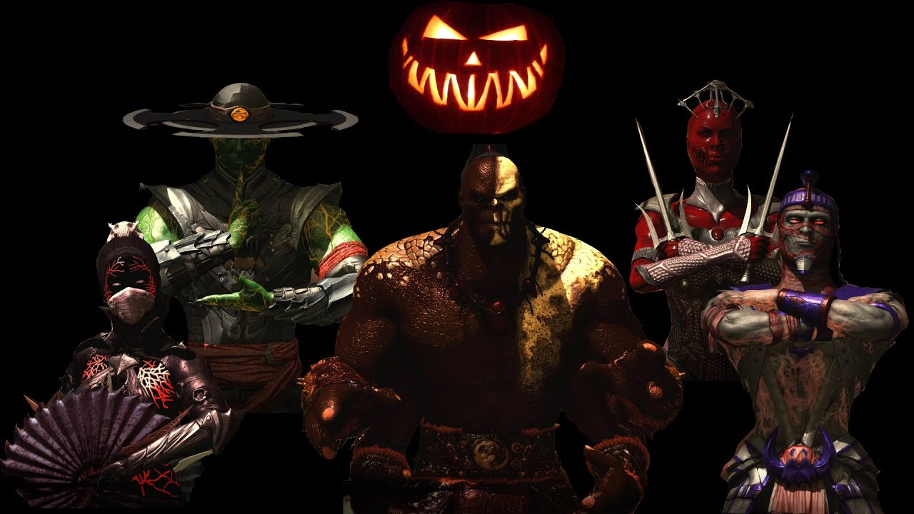mortal kombat x halloween pack 1 costumes skins pc mod 1080p 60fps youtube