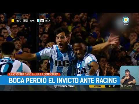 Racing le ganó 2-1 Boca y lo dejó sin invicto